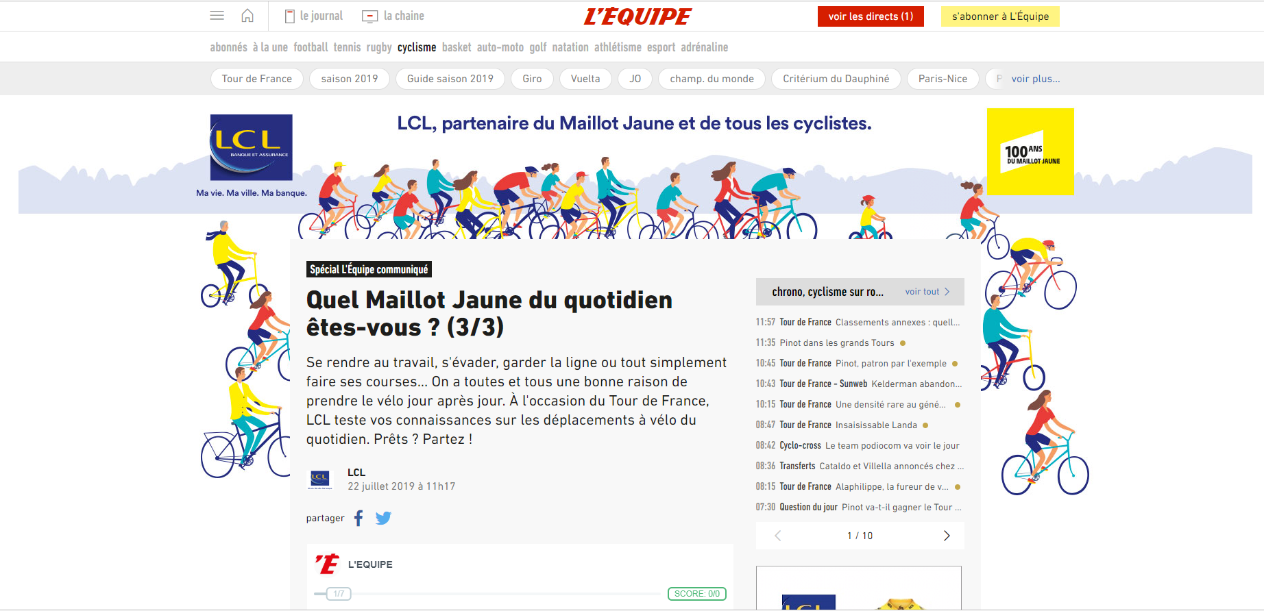 Capture OPS LEQ DESKTOP ARCHE LCL Article 3 - Cas LCL Tour de France 2019