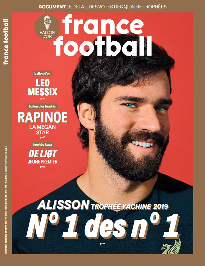 FF UNE 051219 Alisson - Ballon d'Or 2019